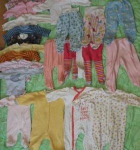 Вещи на малышку (2 пакета)