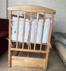 Кроватка+ матрасик