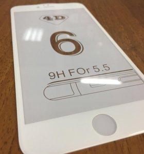 Iphone 6plus защитное стекло на весь экран