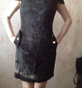 Чёрное платье ( тёплое)
