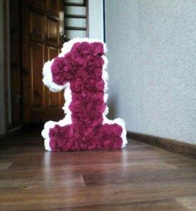 3D цифры для праздника, украшения и автор. приглас