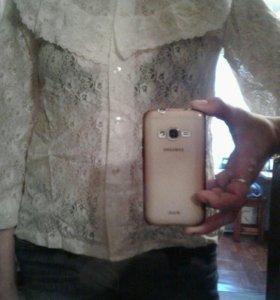 Блуза кружева кремовый цвет
