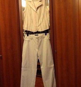 Льняной костюм летний 52 размер
