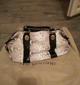 Новая кожаная сумка Leo Ventoni