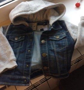 Джинсовая куртка- кофта
