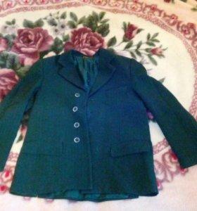 Пиджак зелёный в клетку