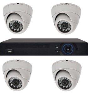 комплекты видеонаблюдения 1-16 камер