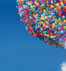 Украшение залов, продажа воздушных шариков
