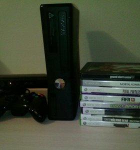 Xbox360,кинект,9 игр,джой
