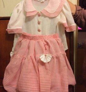 Костюм юбка блузка на девочку 5-7 лет
