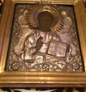 Редкая Икона  Вседержитель вторая половина 19 век