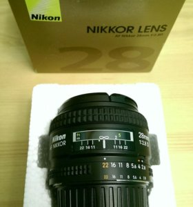 Nikon Nikkor lens 28 mm f/2.8 D