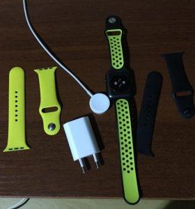 Apple Watch 42 мм спорт чёрные!!!