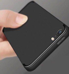 iPhone 5s черный чехол ультратонкий матовый силико