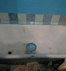 Новая ванна. Реставрация ванн наливным акрилом.