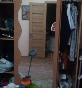 Шкаф-купе вместительный с зеркалом