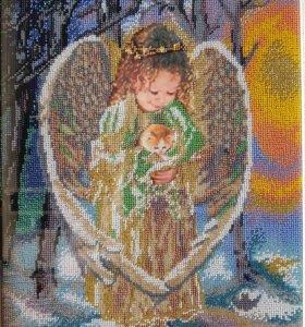 "Картина из бисера ""Ангел"""