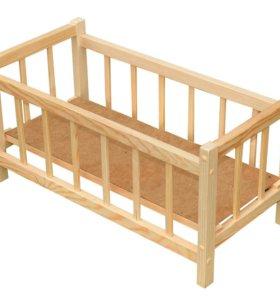 Кроватки для кукол игрушечные деревянные