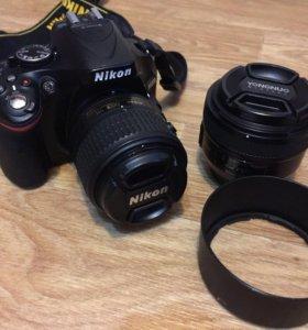 Nikon d5200 kit 18-55mm + Yongnuo 50mm F1.8N
