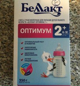 Смесь Беллакт Оптимум 2+ с 6 до 12 мес 400 г