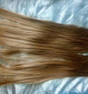 Волосы на заколках искуственные