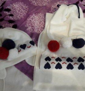 Шапка с шарфом Wojcik