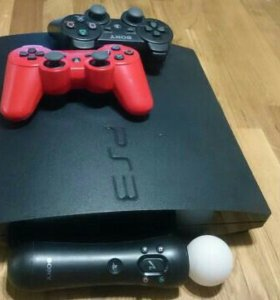Sony PlayStation 3 + 2 джойстика + Move + 7 игр