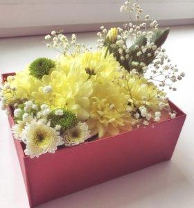 """Букет """"Цветочная коробочка"""""""