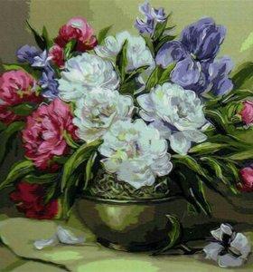 Набор рисование по номерам Цветочный натюрморт