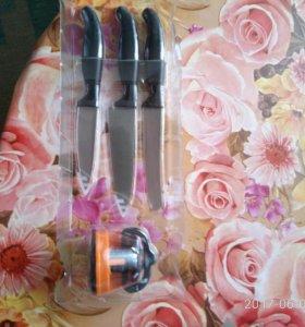 Набор из 3 ножей с точилкой