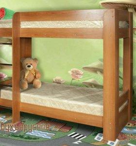 Кровать детская 2-х ярусная кд2.4 новая