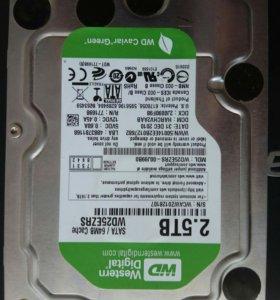 Жёсткий диск 2.5 TB WD