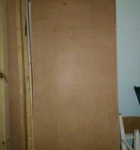 Дверь с коробкой, 80 см,