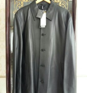✔Новый кожаный пиджак XXXL