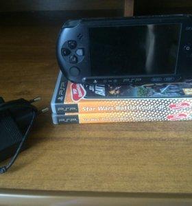 PSP Sony + 2 игры