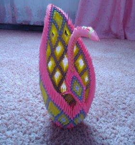 Лебедь оригами