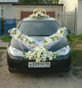Украшение на свадебную машину