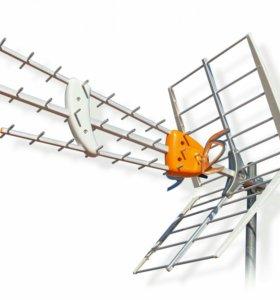 Настройка и Установка эфирных и спутниковых антенн