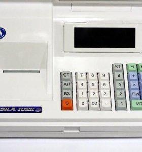 Кассовый аппарат. Чекопечатающая машинка ОКА-102К