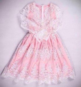 Розовое платье, вечернее