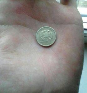 1 рубль 1999года с Пушкиным