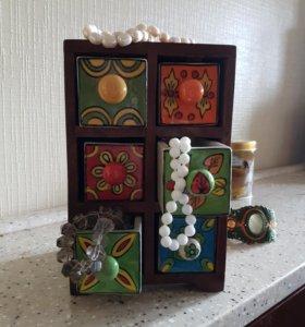 Шкафчик шкатулка для украшений