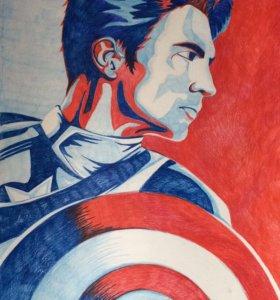 """Картина """"Капитан Америка"""""""