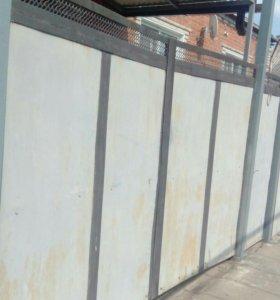 Забор ворота калитка общяя длина20метров