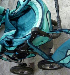 Коляска-трансформер+в подарок стульчик для купания