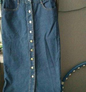 Новая джинсовая юбка ,44-46