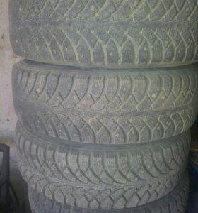 Литые диски R14 с зимней резиной