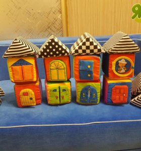 Кубики мягкие с окошками K's Kids