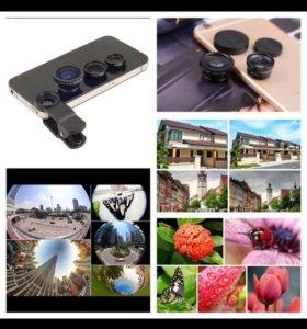 Клипса с объективами для телефонов