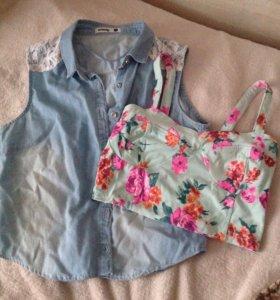 Летняя рубашка, летний топ